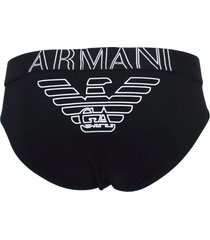 emporio armani slip zwart - logo