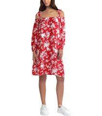 gigi parker floral-print cold-shoulder dress