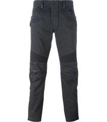 black waxed biker jeans
