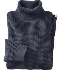 pullover met rolkraag uit hennep/bio-katoenmengsel, donkerblauw l