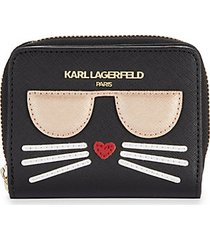 cat faux leather wallet