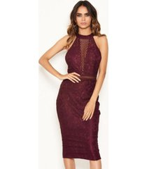 ax paris women's halter neck lace detail bodycon midi dress
