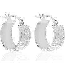 orecchini a cerchio in oro bianco 10 mm per donna