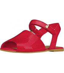 sandalia cuero rojo bibi
