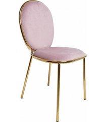 krzesło welurowe mia pudrowy róż