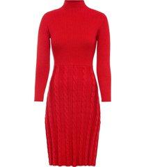 abito in maglia a trecce (rosso) - bodyflirt