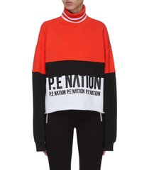 'real challenger' colourblock turtleneck sweatshirt