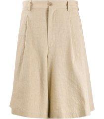 maison margiela oversized shorts - neutrals