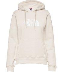 w drew peak pull hd hoodie trui crème the north face