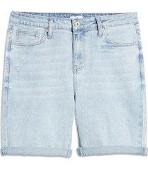 men's bp. men's slim fit stretch denim shorts, size 34 - blue