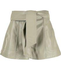 jonathan simkhai mari faux leather shorts - green