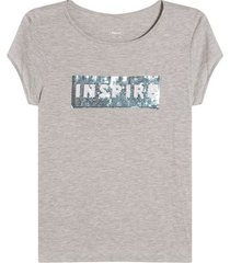 camiseta mujer inspire color gris, talla l