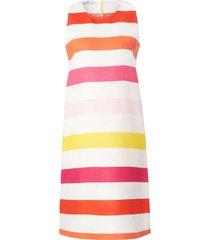 mouwloze jurk 100% linnen zijsplitjes van peter hahn multicolour