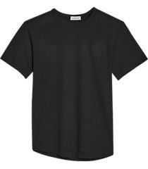 alternative apparel modern fit eco jersey shirttail t-shirt black