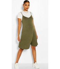 maternity 2 in 1 swing dress, khaki