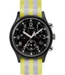 timex mk1 aluminum chronograph 40mm reflective fabric watch