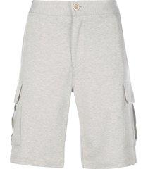 brunello cucinelli straight-leg cargo shorts - white
