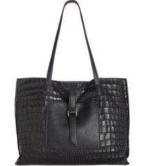 sondra roberts soft crackled croco tote