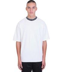 acne studios extorr logo t-shirt in white viscose