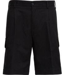 dolce & gabbana five pockets bermuda shorts in black jersey