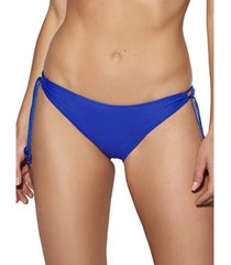 bikini selmark gofrada mare blauw lage taille kousen