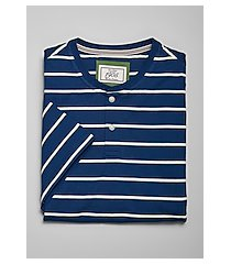 1905 collection tailored fit stripe short sleeve henley t-shirt