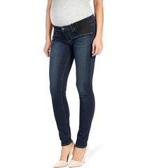 women's paige 'transcend - verdugo' ultra skinny maternity jeans, size 30 - blue