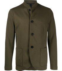 harris wharf london button front light cotton jacket - green