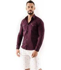 camisa amil safari slim manga longa ii masculina