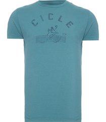 t-shirt masculina meia malha silkada cicle - azul