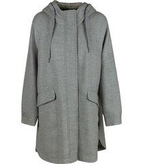 brunello cucinelli oversize hooded coat