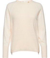 emaiw zipper pullover gebreide trui crème inwear