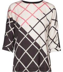 t-shirt 3/4-sleeve r blouses short-sleeved multi/mönstrad gerry weber