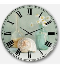 designart nautical and beach oversized metal wall clock