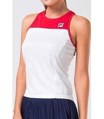 camiseta regata fila drappy branca feminina