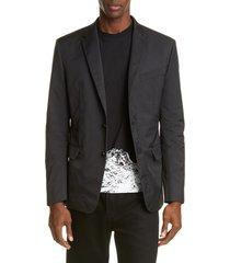men's valentino slim fit blazer, size 50 eu - black