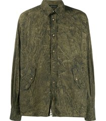 mr & mrs italy coated shirt - green