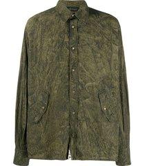 mr & mrs italy coated shirt - green