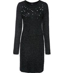 abito in maglia con perle (nero) - bodyflirt