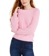 almost famous juniors' off-the-shoulder sweater