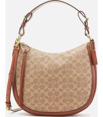 coach women's signature sutton hobo bag - tan rust
