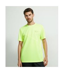 camiseta esportiva manga curta com recorte | get over | amarelo | gg