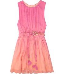 chloé pleated silk dress