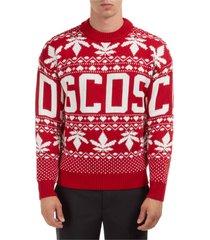 maglione maglia uomo girocollo christmas