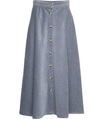 cordy skirt knälång kjol blå soft rebels