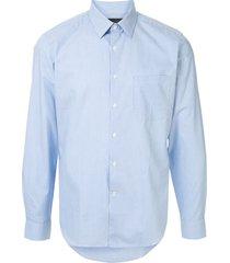 d'urban formal chest pocket shirt - blue
