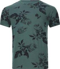 camiseta hombre hojas color verde, talla l