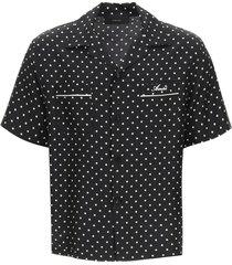 amiri polka dot short-sleeved shirt