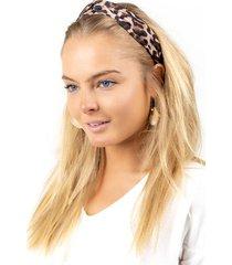 hailey classic leopard knot headband - leopard