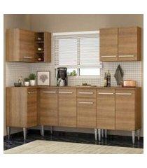 cozinha completa de canto madesa emilly open com armário e balcão rustic